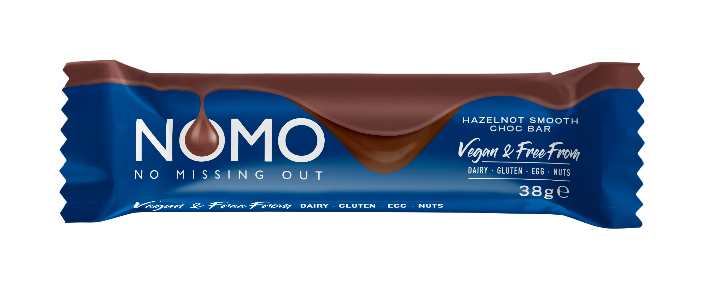 NOMO launches Hazelnot Smooth bar exclusively to Sainsbury's