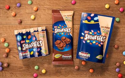 Smarties brand switches to recyclable paper packaging