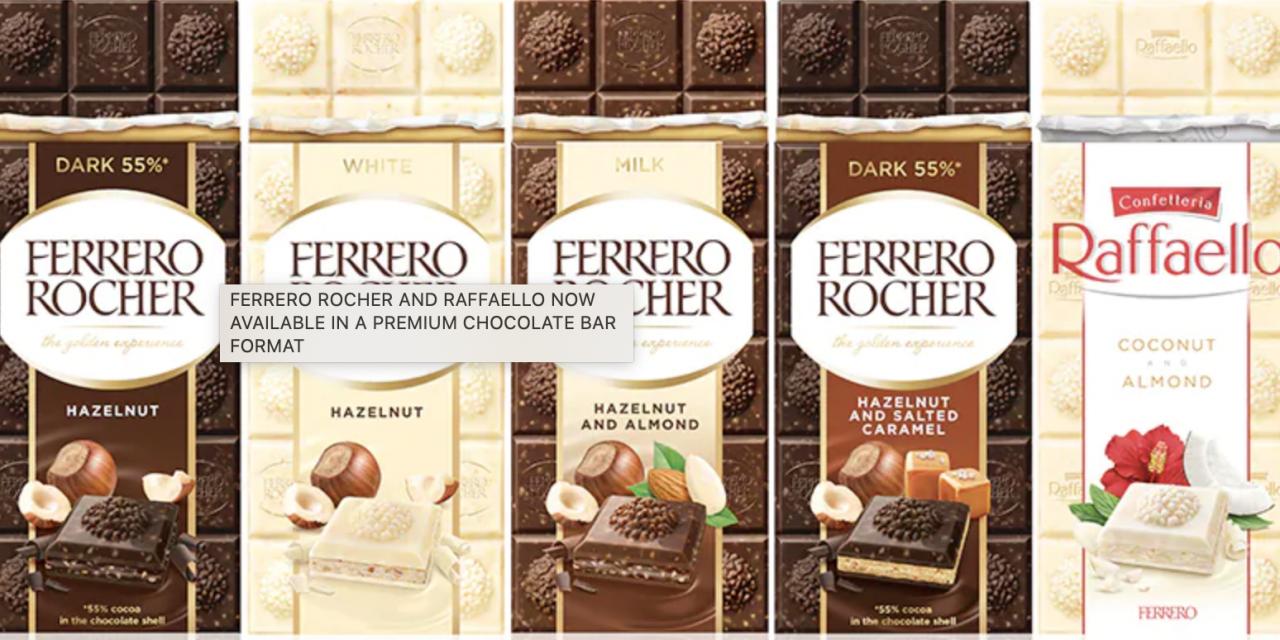 Ferrero enters premium chocolate bar category