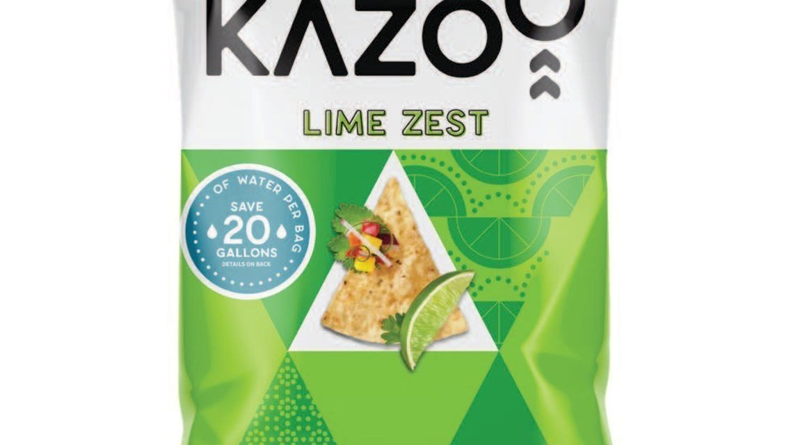 Kazoo Snacks unveils water-saving tortilla chips